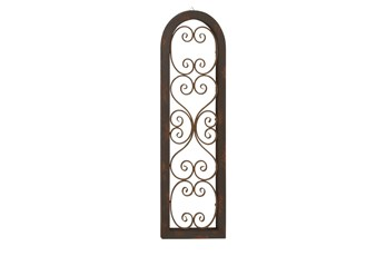 Brown 48 Inch Wood Metal Wall Panel