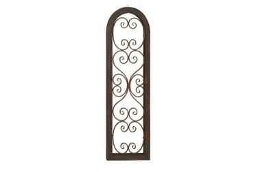 Brown 48 Inch Wood Metal Wall Panel
