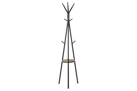 Grey 72 Inch Metal Wood Coat Rack - Main