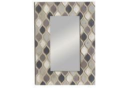 Multi 40 Inch Wood Framed Wall Mirror