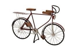 Black 14 Inch Metal Wood Bicycle Sculpture