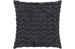 Accent Pillow-Zig Zag Black 22X22