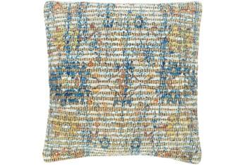 Accent Pillow-Jute Traditional Blue/Orange 18X18