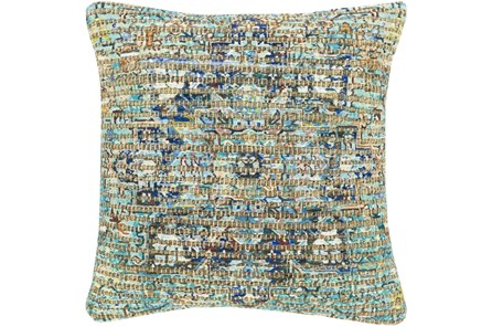 Accent Pillow-Jute Traditional Aqua 18X18 - Main