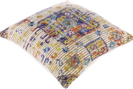 Accent Pillow-Jute Boho Multi Color 26X26 - Main