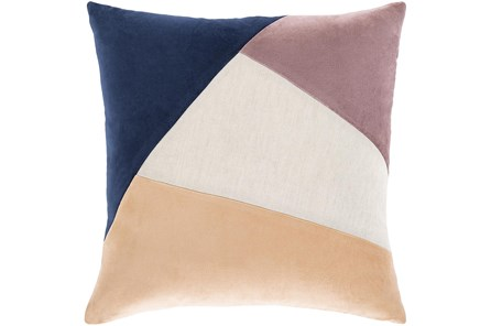 Accent Pillow-Color Block Navy/Lilac 18X18 - Main