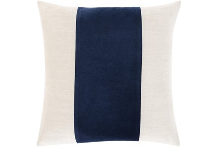 Accent Pillow-Color Band Navy 20X20 - Main