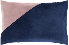Accent Pillow-Color Block Navy/Lilac 13X20