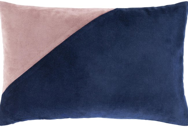 Accent Pillow-Color Block Navy/Lilac 13X20 - 360