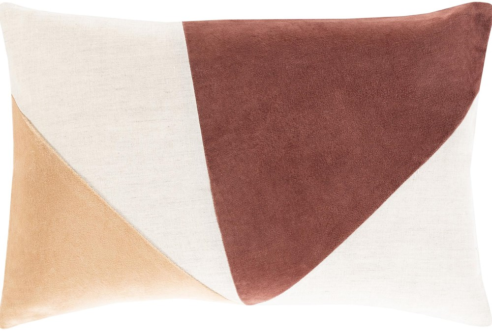 Accent Pillow-Color Block Rust/Camel 13X20