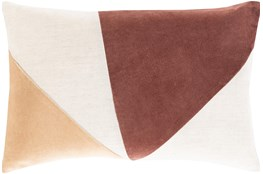 Accent Pillow-Color Block Rust/Camel 13X20