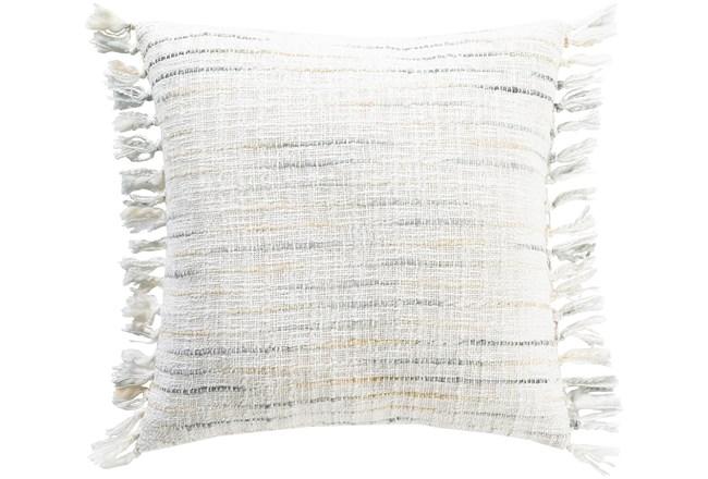 Accent Pillow-Side Fringe Soft Blue 18X18 - 360