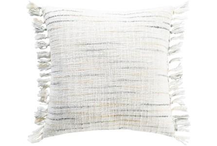Accent Pillow-Side Fringe Soft Blue 22X22 - Main