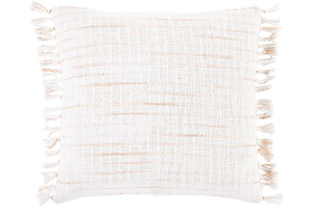 Accent Pillow-Side Fringe Soft Coral  18X18 - Main