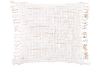 Accent Pillow-Side Fringe Soft Coral  22X22