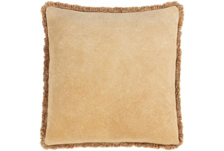 Accent Pillow-Brush Fringe Camel 22X22 - Main