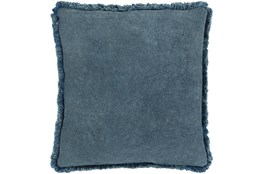 Accent Pillow-Brush Fringe Slate 22X22