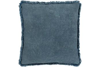 Accent Pillow-Brush Fringe Slate 22X22