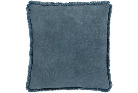 Accent Pillow-Brush Fringe Slate 22X22 - Main