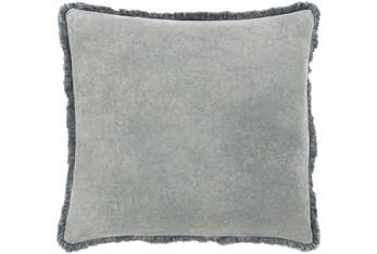 Accent Pillow-Brush Fringe Pewter 18X18