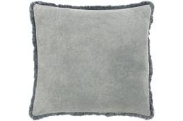 Accent Pillow-Brush Fringe Pewter 22X22