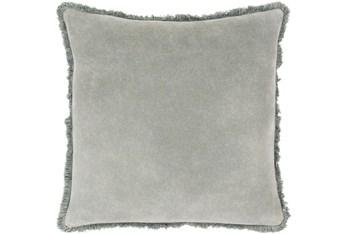 Accent Pillow-Brush Fringe Sea Foam 18X18
