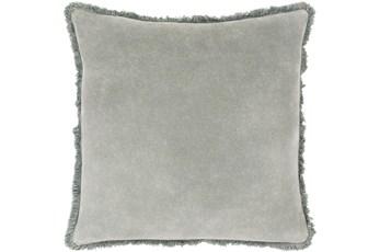 Accent Pillow-Brush Fringe Sea Foam 22X22