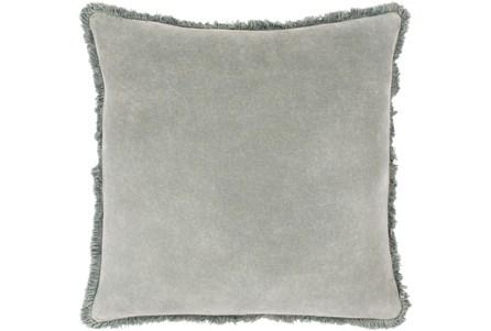 Accent Pillow-Brush Fringe Sea Foam 22X22 - Main