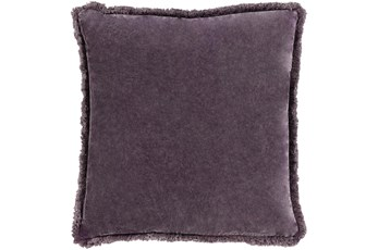 Accent Pillow-Brush Fringe Eggplant 18X18