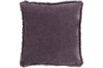 Accent Pillow-Brush Fringe Eggplant 20X20