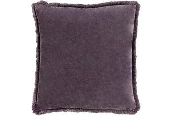 Accent Pillow-Brush Fringe Eggplant 20X20