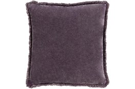 Accent Pillow-Brush Fringe Eggplant 22X22