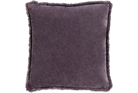 Accent Pillow-Brush Fringe Eggplant 22X22 - Main