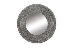 Grey 37 Inch Metal Wall Mirror