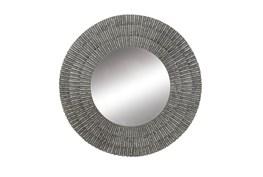 Grey 37 Inch Metal Wall Mirror