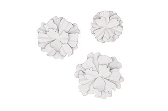 White 19 Inch Metal Wall Decor Set Of 3