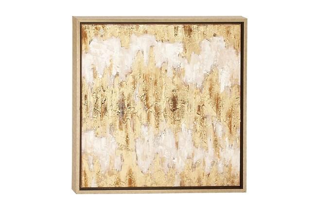 Beige 24 Inch Framed Canvas Art - 360