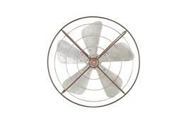 Grey 32 Inch Metal Fan Wall Decor