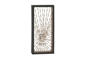 Silver 52 Inch Metal Starburst Wall Decor