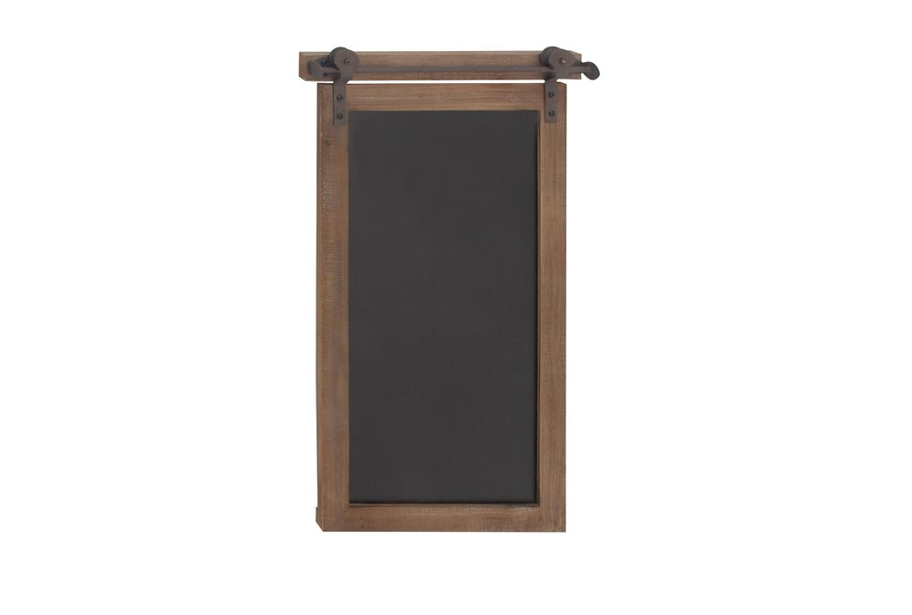 Brown 28 Inch Wood Metal Chalkboard Wall Decor