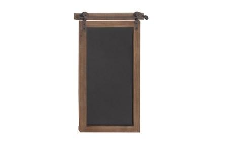 Brown 28 Inch Wood Metal Chalkboard Wall Decor - Main