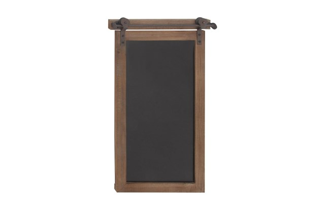 Brown 28 Inch Wood Metal Chalkboard Wall Decor - 360