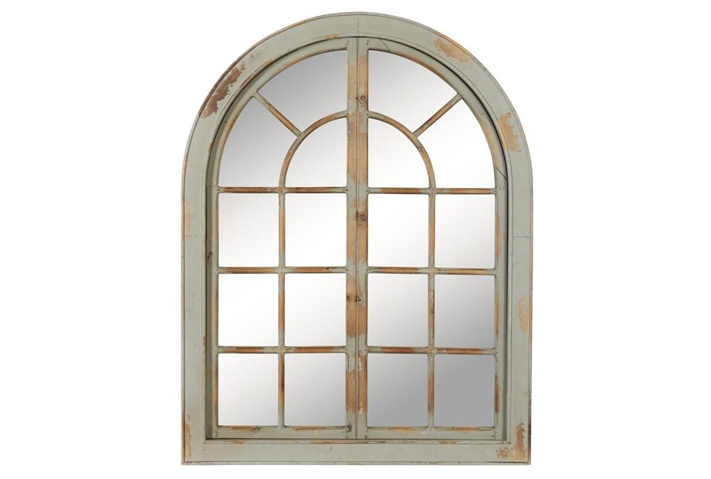 Grey 48 Inch Wood Framed Wall Mirror