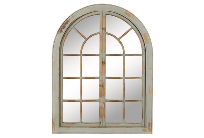 Grey 48 Inch Wood Framed Wall Mirror - 360