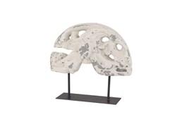 White 15 Inch Fiberglass Sculpture