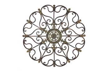 Brown 29 Inch Metal Wall Decor