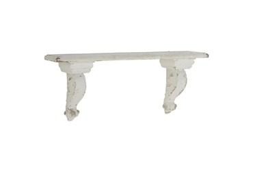White 7 Inch Wood Resin Wall Shelf
