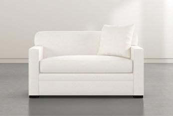 "Ethan IV White Memory Foam 54"" Chairbed Sleeper"