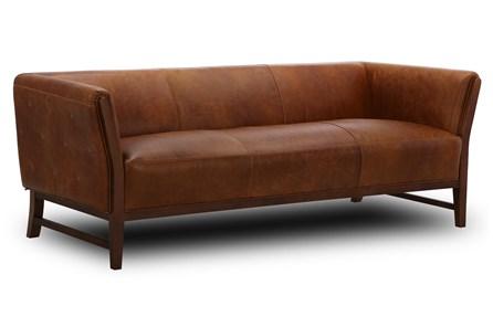 Cognac Leather Wood Frame 87
