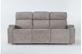 "Frazier Stone 86"" Power Reclining Sofa With Power Headrest & Wireless Charging"